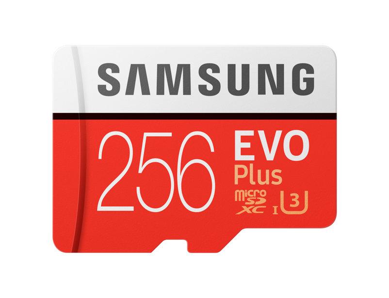 Micro SDXC 256GB Samsung EVO Plus + SD adaptér