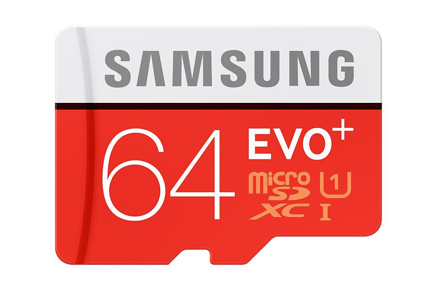 AKCE! Micro SDXC 64GB Samsung EVO PLUS + adaptér