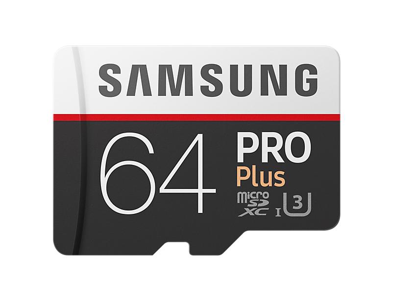 Samsung micro SDXC 64GB PRO Plus + SD adaptér