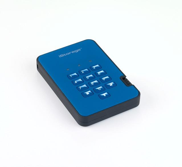 diskAshur2 SSD 256-bit 128GB - Blue