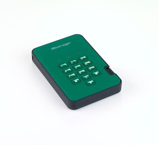 diskAshur2 SSD 256-bit 256GB - Green