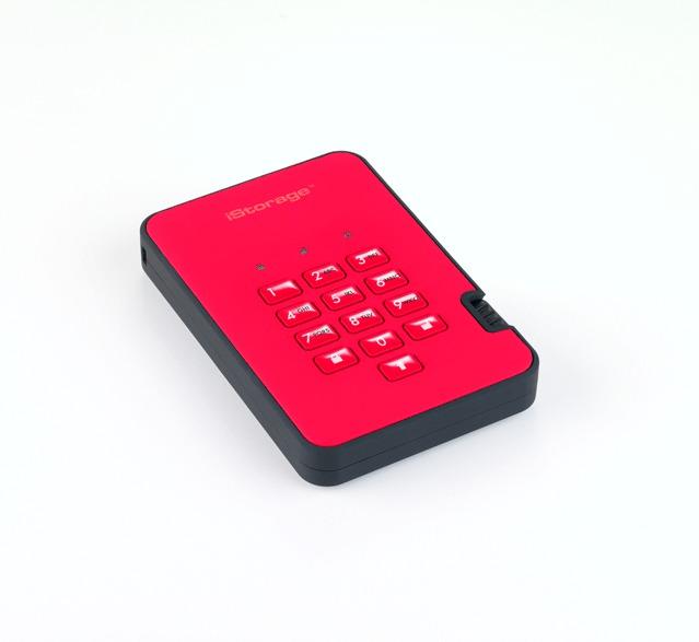 diskAshur2 256-bit 5TB - Red