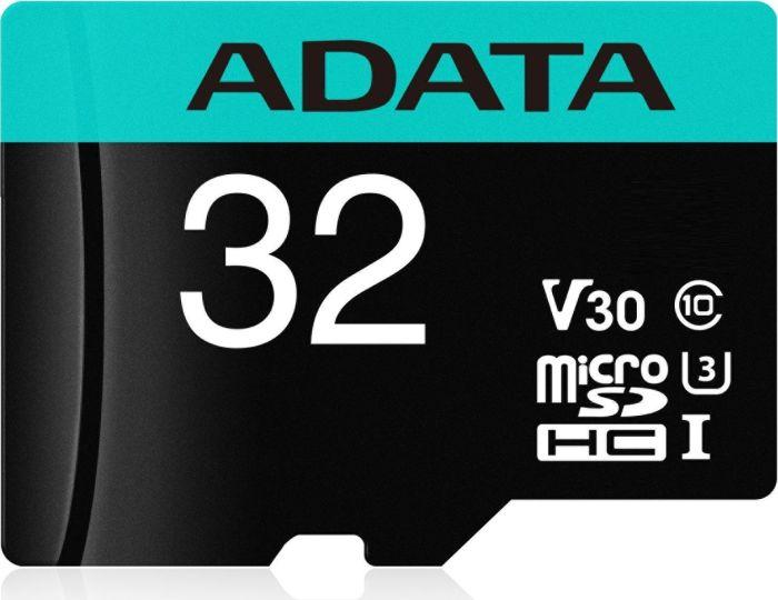 ADATA MicroSDHC 32GB U3 V30G 95/90MB/s + adapter - AUSDH32GUI3V30SA2-RA1