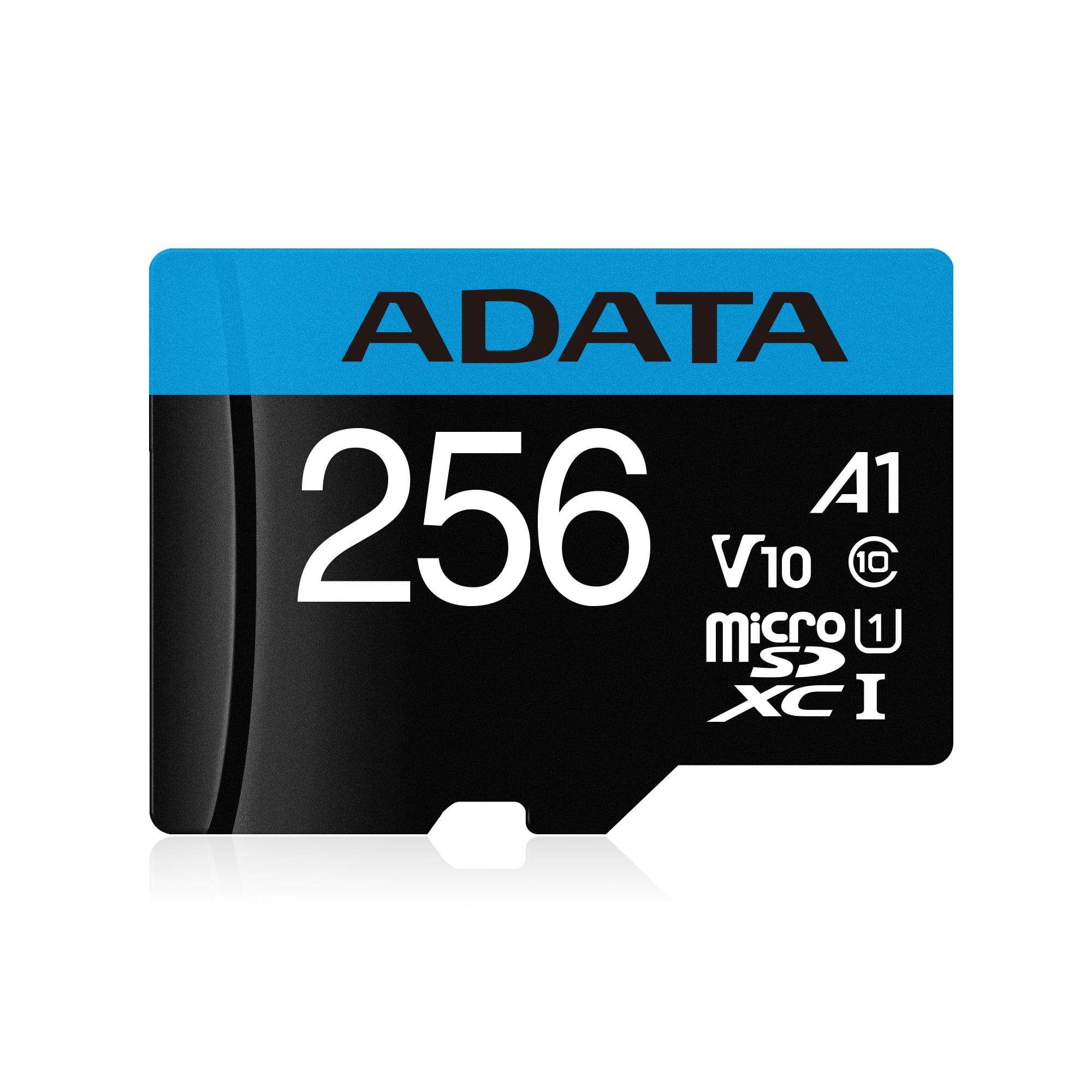 ADATA MicroSDXC 256GB UHS-I 100/25MB/s + adapter - AUSDX256GUICL10A1-RA1