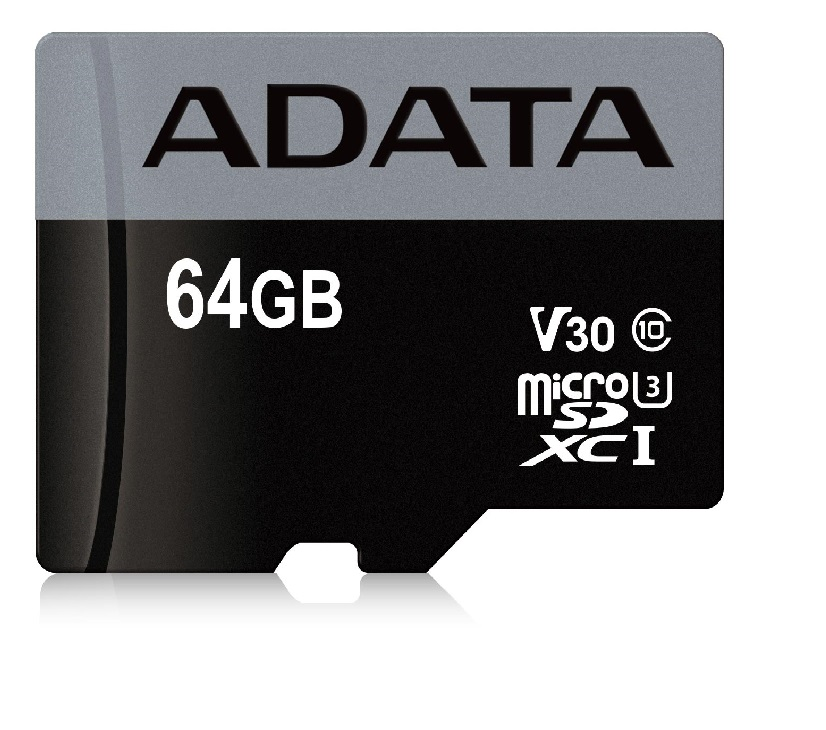 ADATA MicroSDXC 64GB U3 V30S až 95MB/s