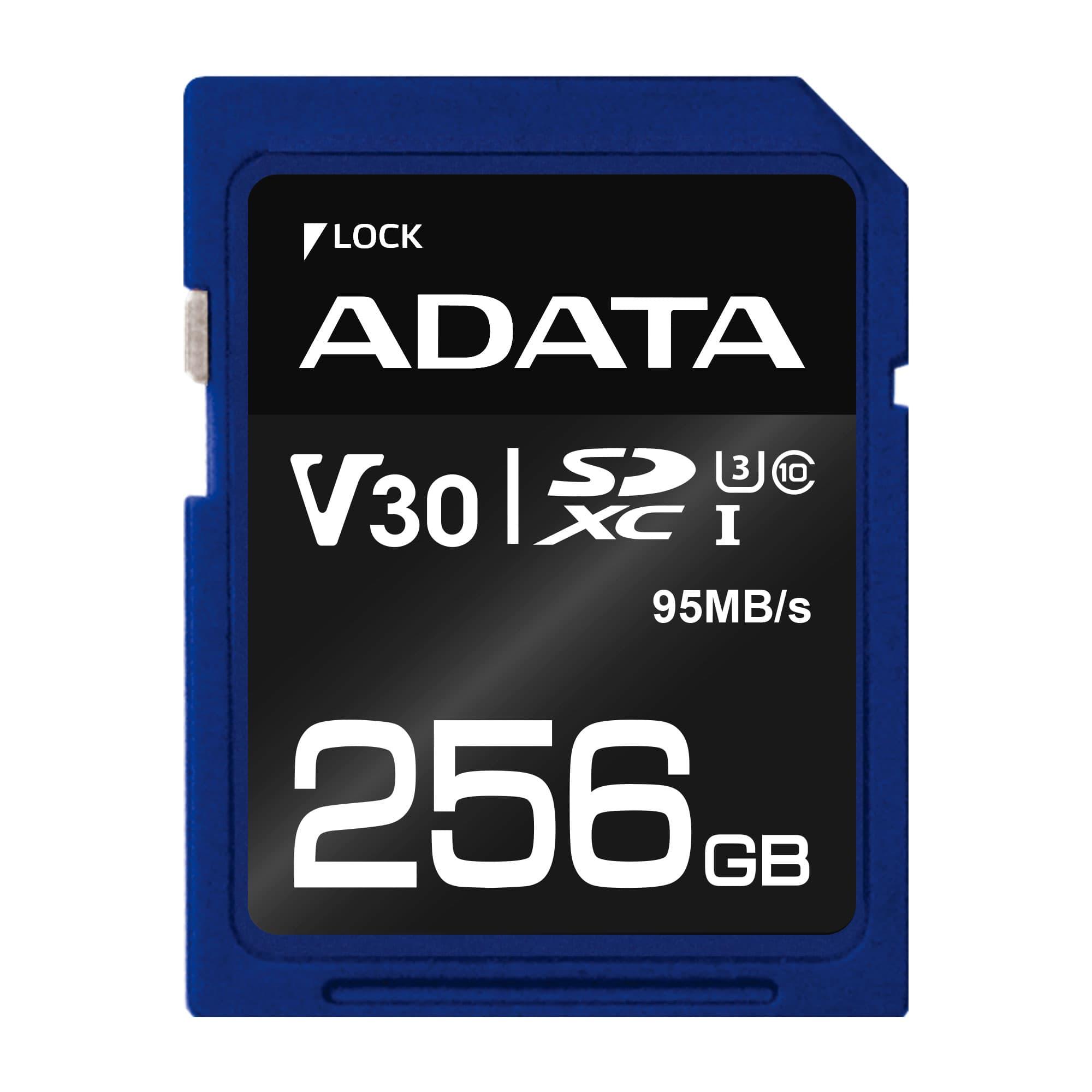 ADATA SDXC 256GB UHS-I U3 V30S 95/60MB/s - ASDX256GUI3V30S-R