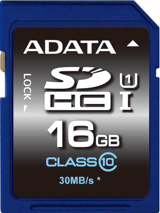ADATA SDHC 16GB UHS-I Premier,Class 10 - ASDH16GUICL10-R
