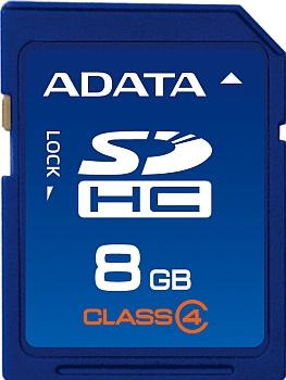 ADATA 8GB SDHC Card Class 4