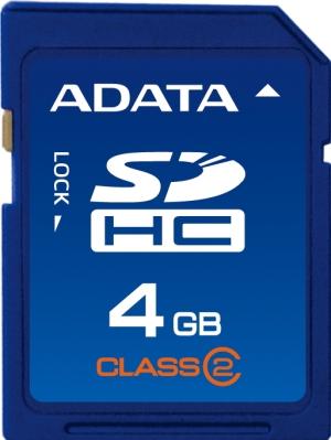 ADATA 4GB SDHC Card Class 4