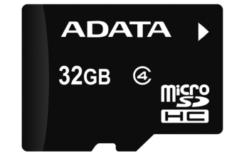 ADATA 32GB MicroSDHC Card with Adaptor Class 4