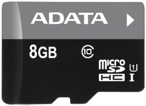 ADATA 8GB MicroSDHC Premier,class 10,with Adapter