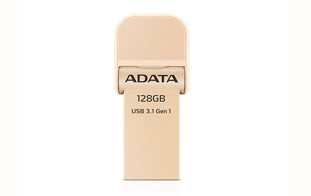 128GB ADATA lightning/USB 3.1 i-Memory zlatá