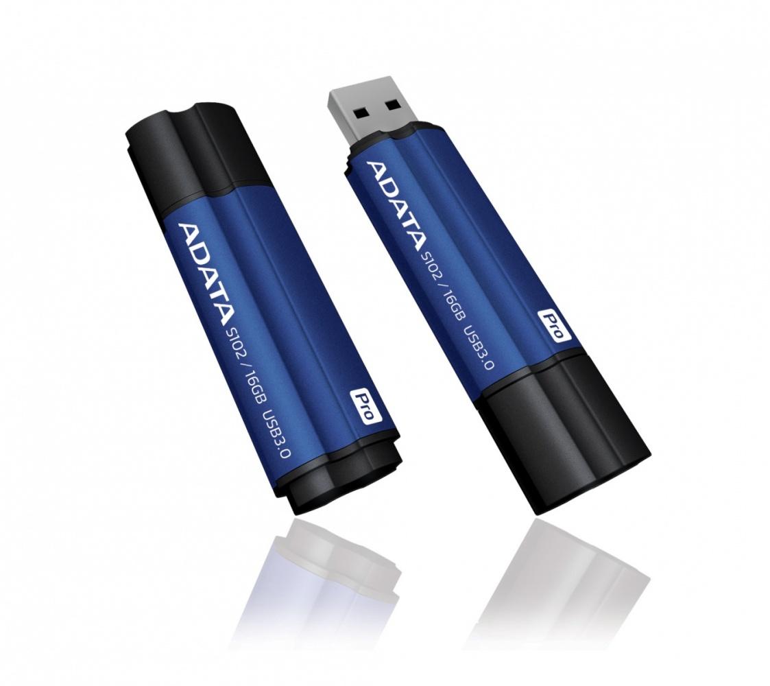 16GB USB 3.0 ADATA S102 Pro modrá (100/25MB/s)