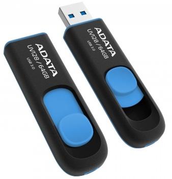 ADATA USB UV128 64GB blue (USB 3.0) - AUV128-64G-RBE