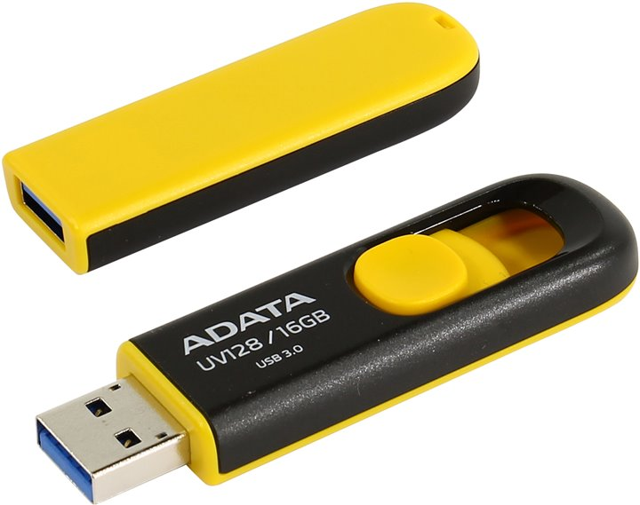 ADATA USB UV128 16GB yellow (USB 3.0) - AUV128-16G-RBY