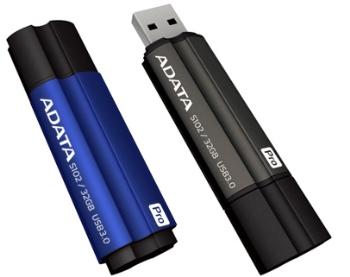 32GB USB 3.0 ADATA S102 Pro šedá (90/25MB/s) - AS102P-32G-RGY