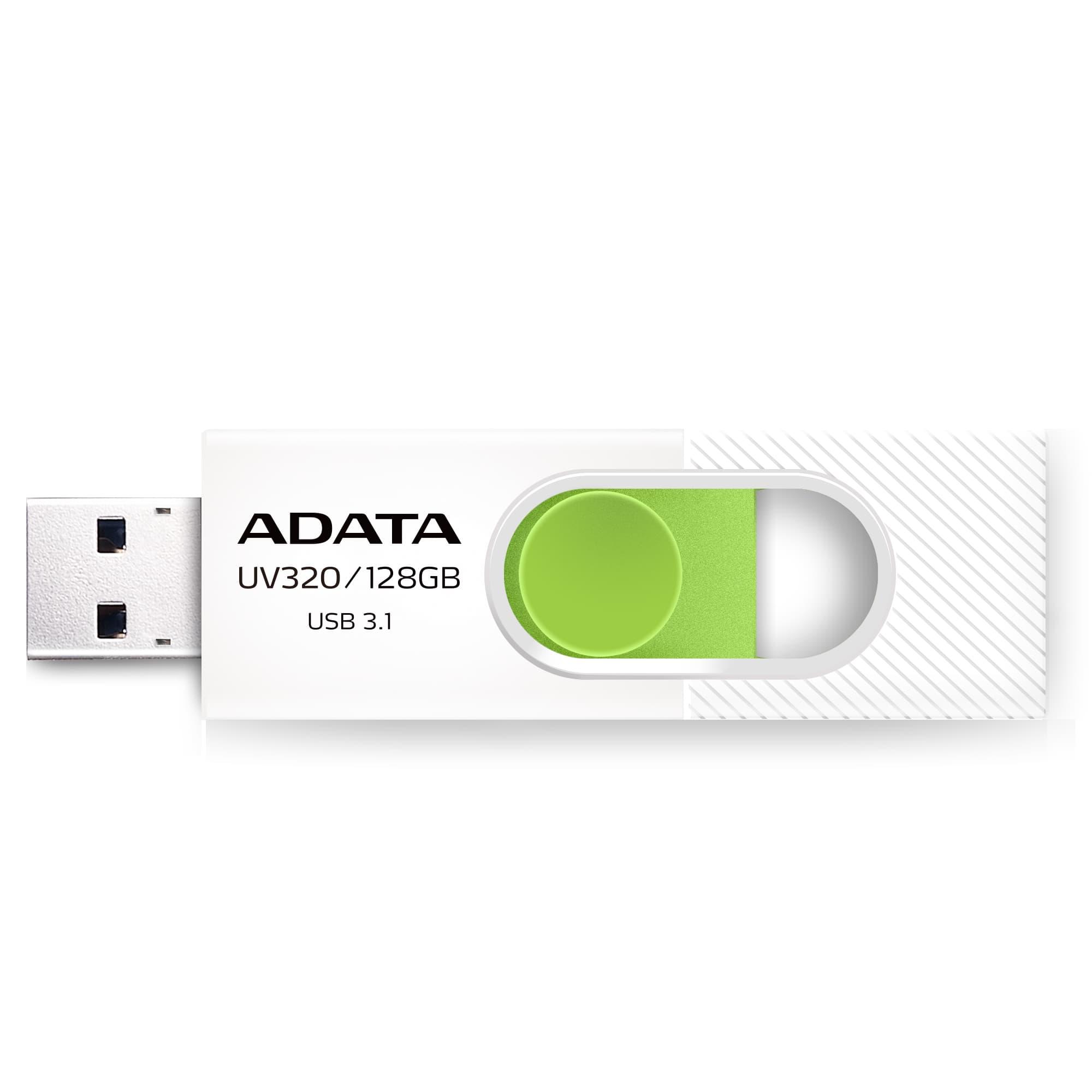 ADATA USB UV320 128GB white/green (USB 3.0) - AUV320-128G-RWHGN
