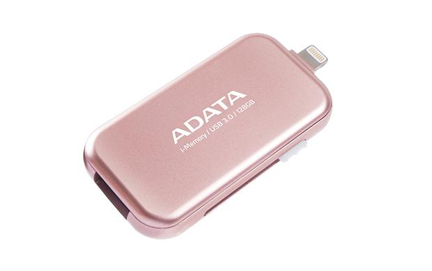 128GB ADATA UE710 USB 3.0 i-memory pro Apple růžová