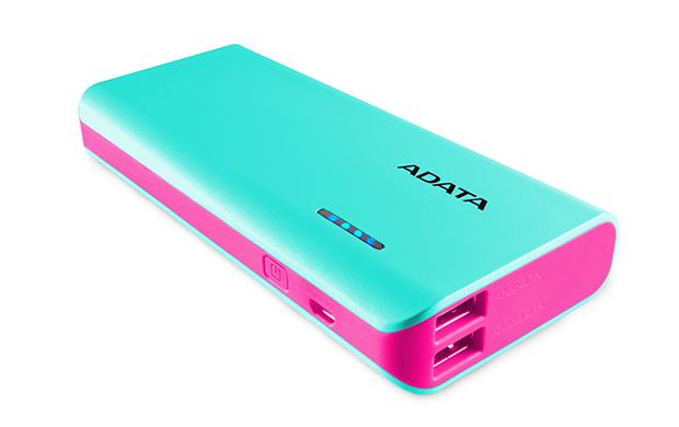 ADATA PT100 Power Bank 10000mAh modrá/růžová