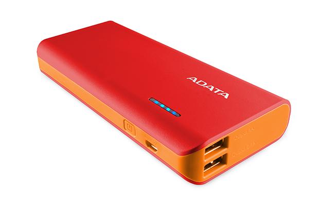 ADATA PT100 Power Bank 10000mAh červená/oranžová