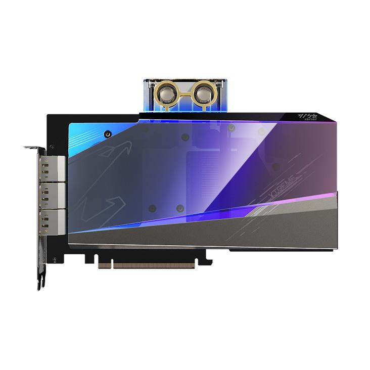 GIGABYTE AORUS RTX™ 3080 XTREME WATERFORCE WB 10G 2.0 LHR - GV-N3080AORUSX WB-10GD 2.0