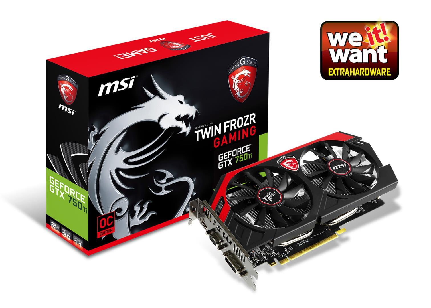 MSI GTX750 Ti 2GB (128) aktiv D H Ds D5 Gaming
