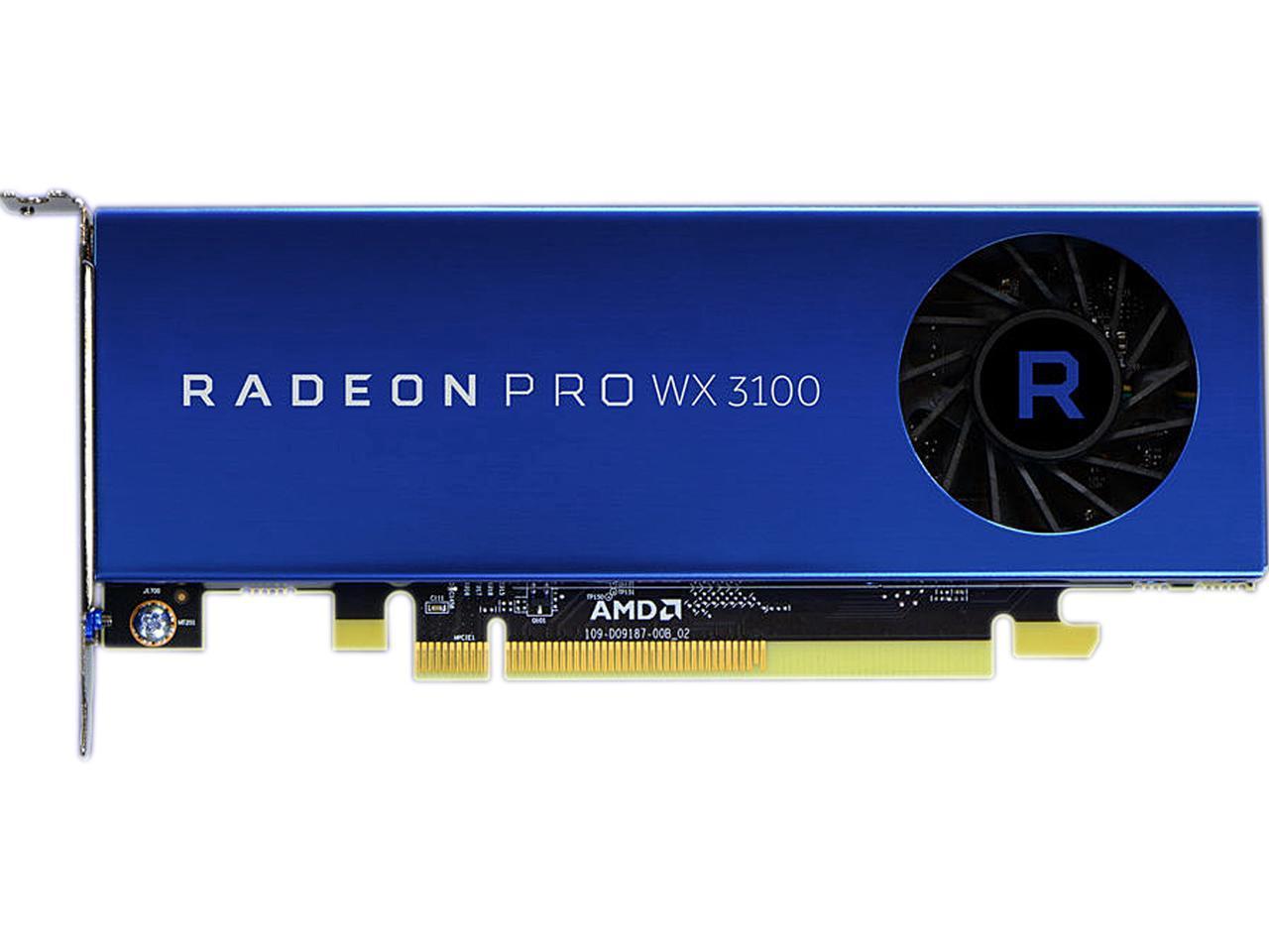 AMD Radeon Pro WX 3100 - 4GB GDDR5, 2xmDP, 1xDP