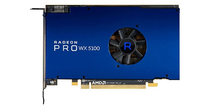 AMD Radeon Pro WX 5100 - 8GB GDDR5, 4xDP