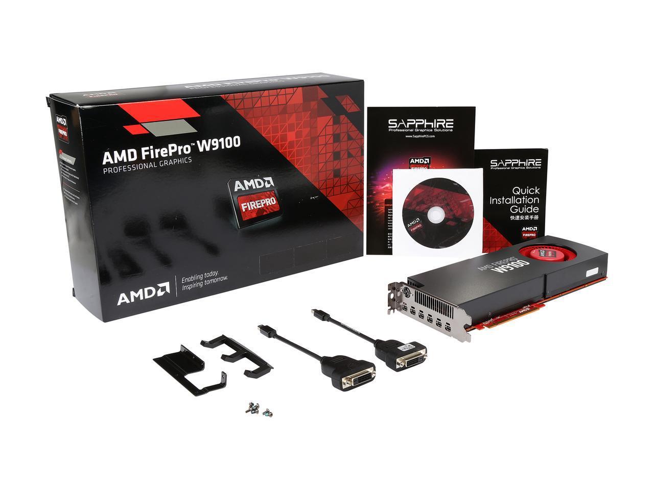 AMD FirePro W9100 - 32GB GDDR5 6-mDP PCIe 3.0