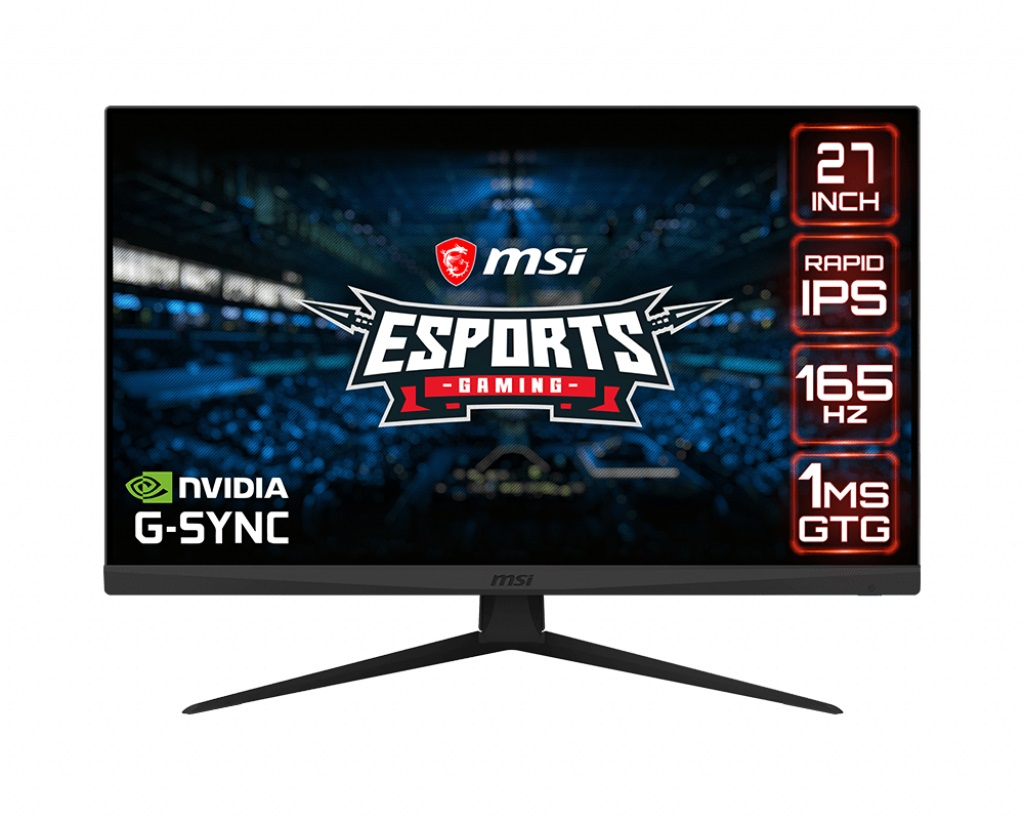 MSI Optix G273QF 27''C/2560x1440/1000:1/1ms/165Hz - Optix G273QF