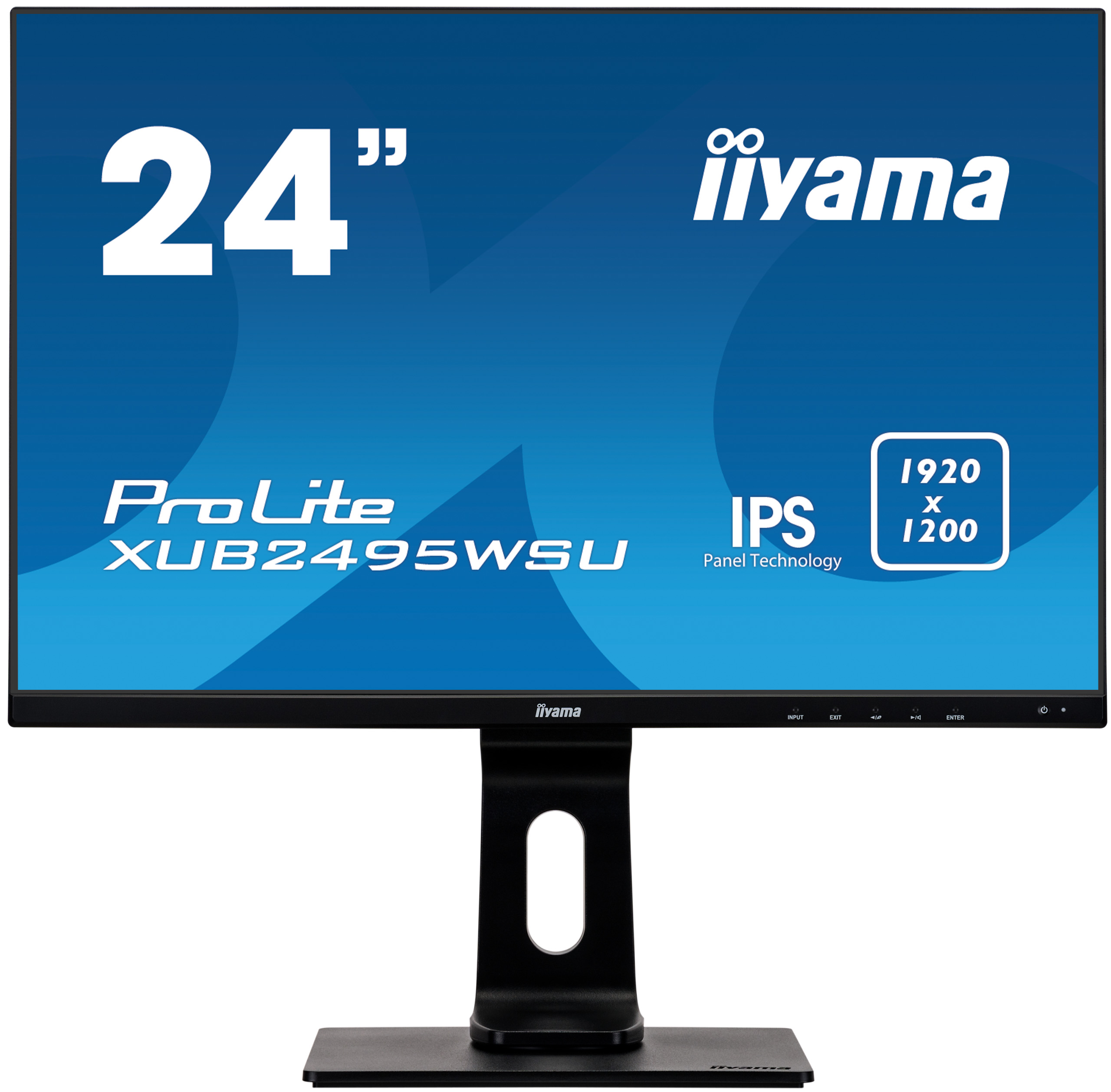 24'' iiyama XUB2495WSU-B1: IPS, 1920x1200, 16:10, 300cd/m2, 5ms, VGA, HDMI, DP, height, pivot, černý