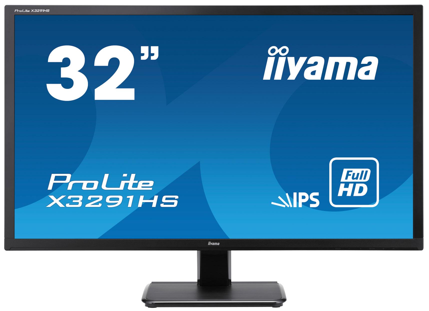 32'' iiyama X3291HS-B1: IPS, FullHD, 250cd/m2, 5ms, VGA, DVI, HDMI, černý - X3291HS-B1
