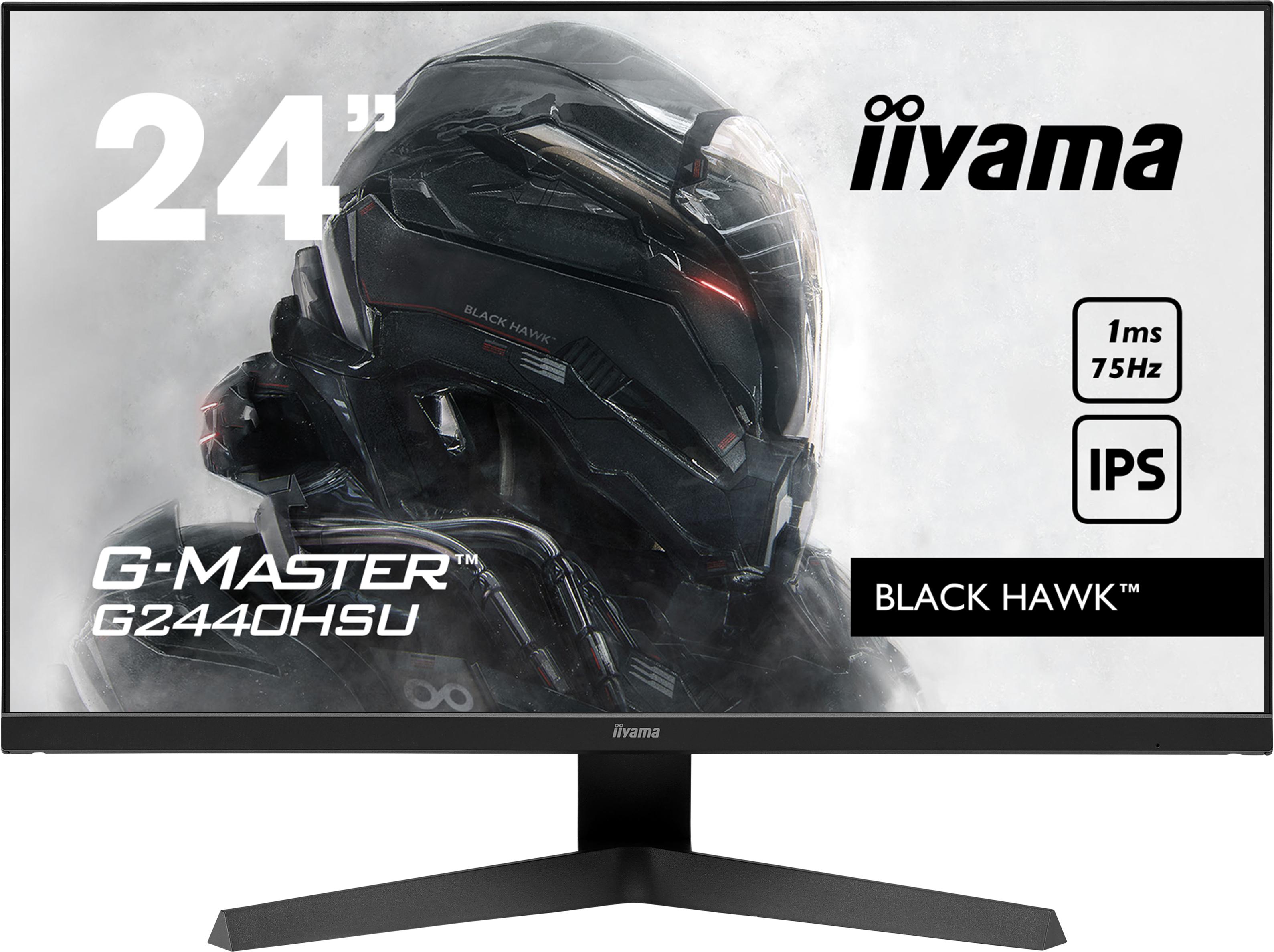 24'' iiyama G-Master G2440HSU-B1: IPS, FullHD@75Hz, 1ms, HDMI, DP, USB, FreeSync, černý - G2440HSU-B1