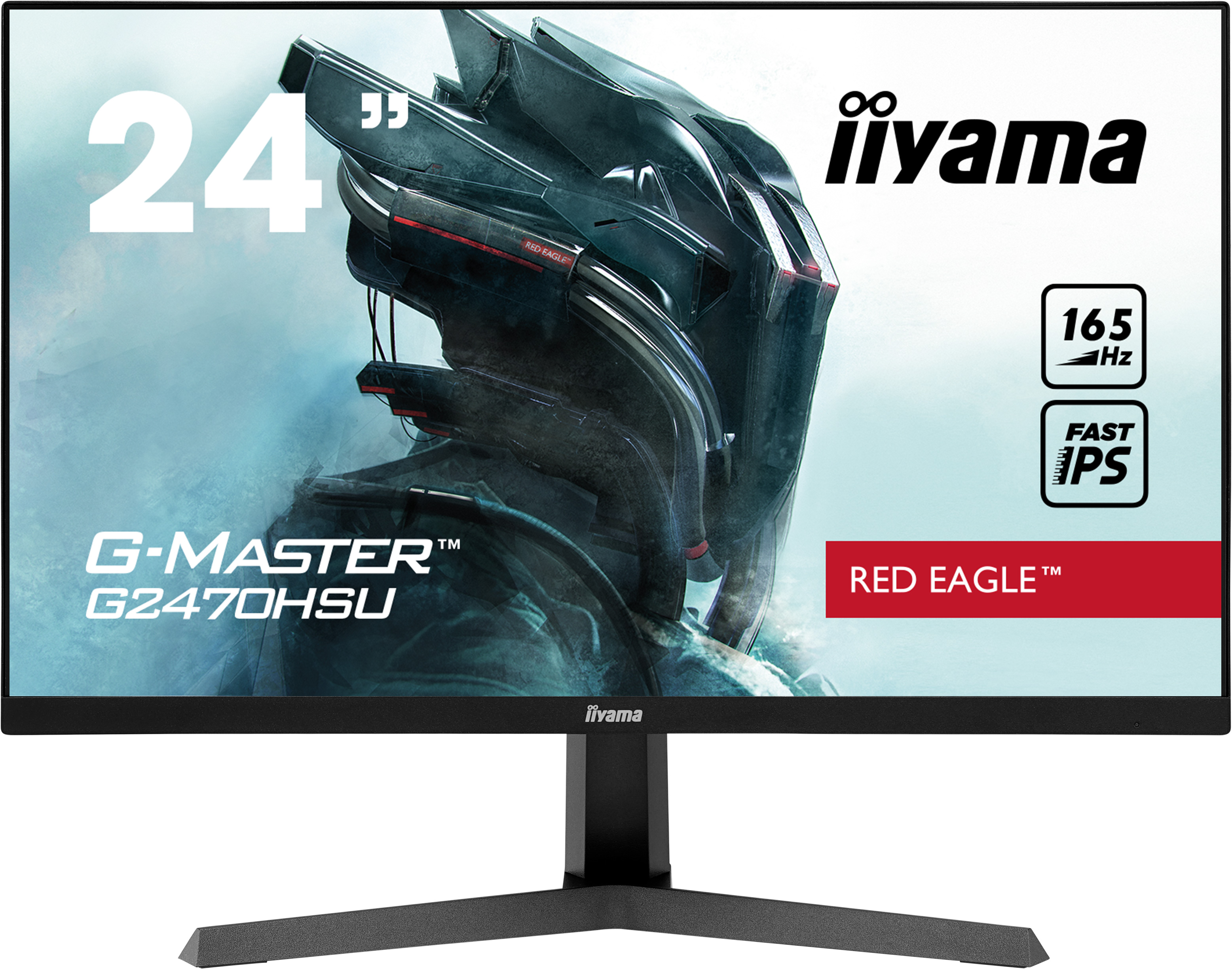 24'' iiyama G-Master G2470HSU-B1: IPS, FullHD@165Hz, 0.8ms, HDMI, DP, USB, FreeSync, černý - G2470HSU-B1