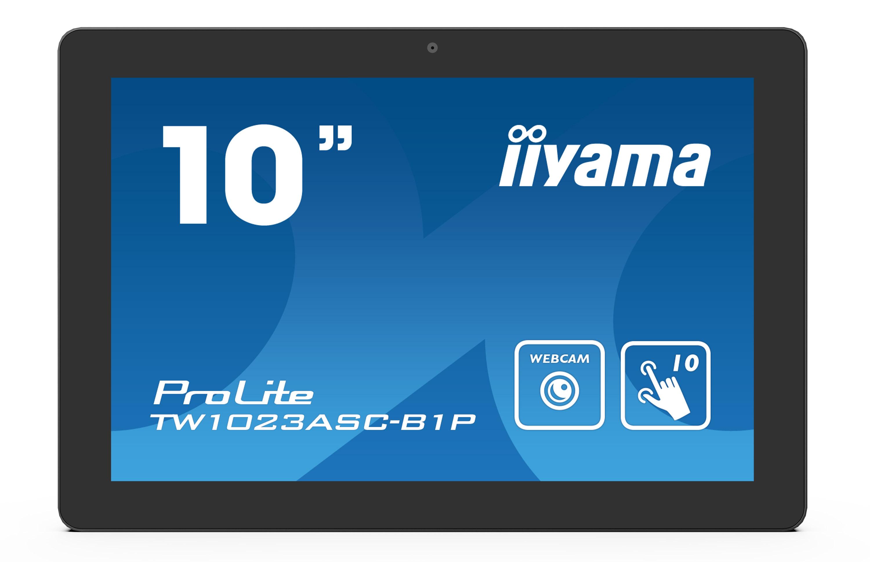 10'' iiyama TW1023ASC-B1P, IPS, HD, capacitive, 10P, 450cd/m2, mini HDMI, WiFi, Webcam, Android 8.1 - TW1023ASC-B1P