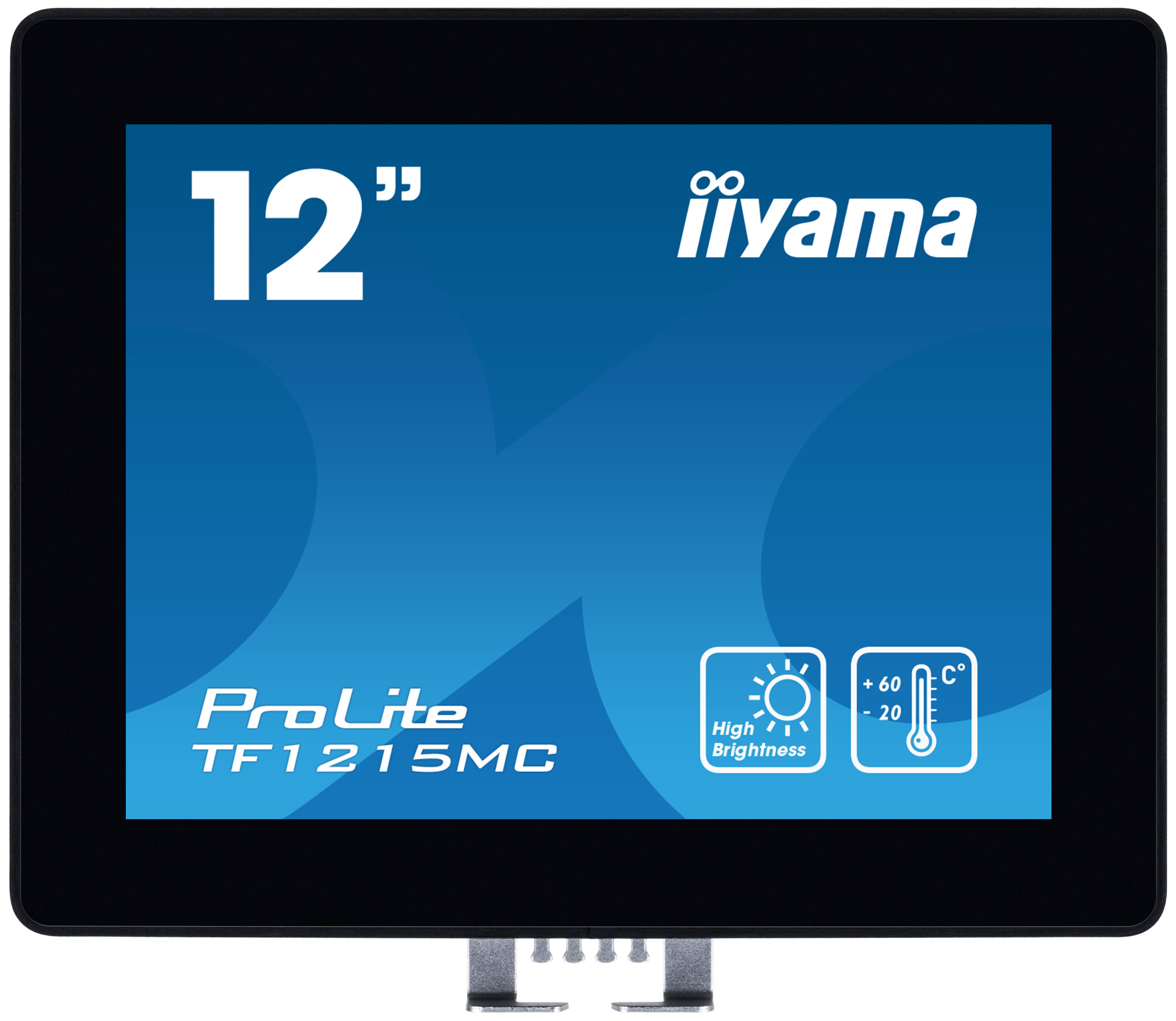 12'' iiyama TF1215MC-B1: IPS, XGA, capacitive, 10P, 540cd/m2, VGA, DP, HDMI, IP65, Ball Drop, černý - TF1215MC-B1
