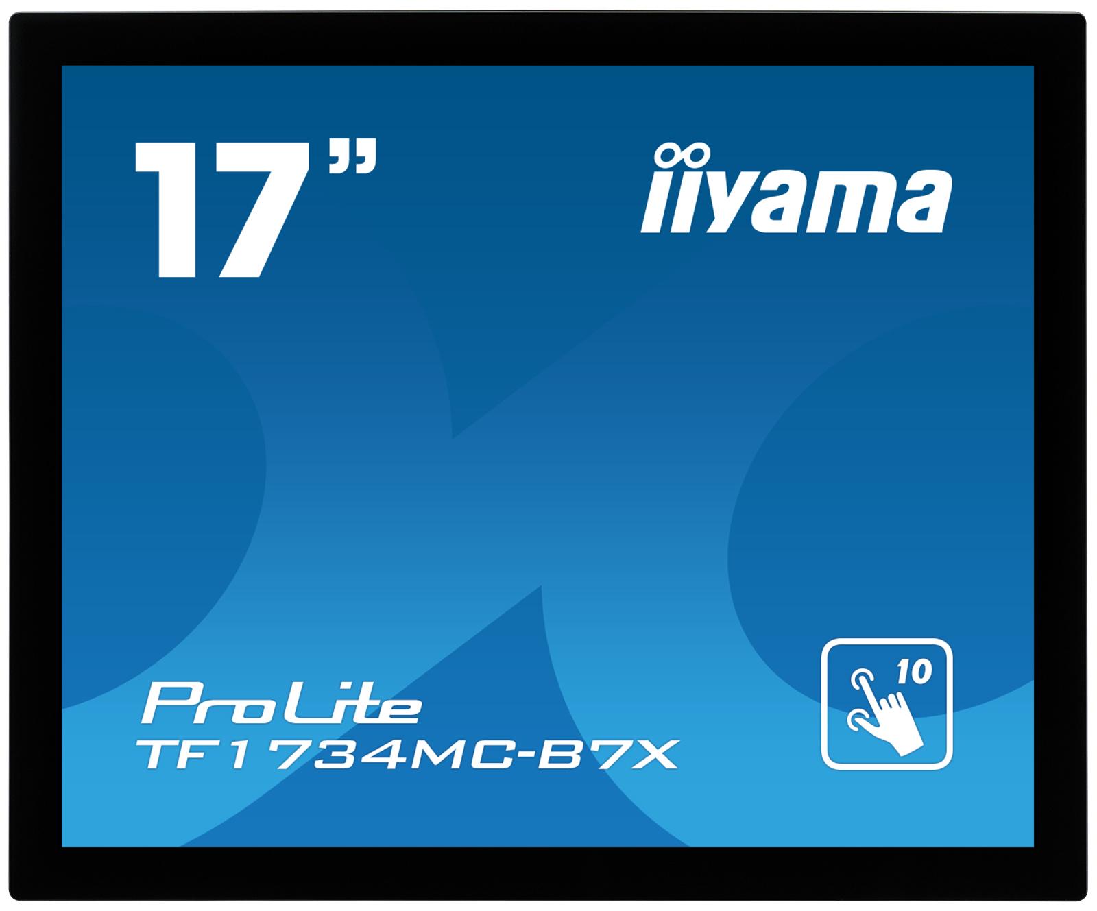 17'' iiyama TF1734MC-B7X: TN, 1280x1024, capacitive, 10P, 350cd/m2, VGA, DP, HDMI, IP65, černý - TF1734MC-B7X