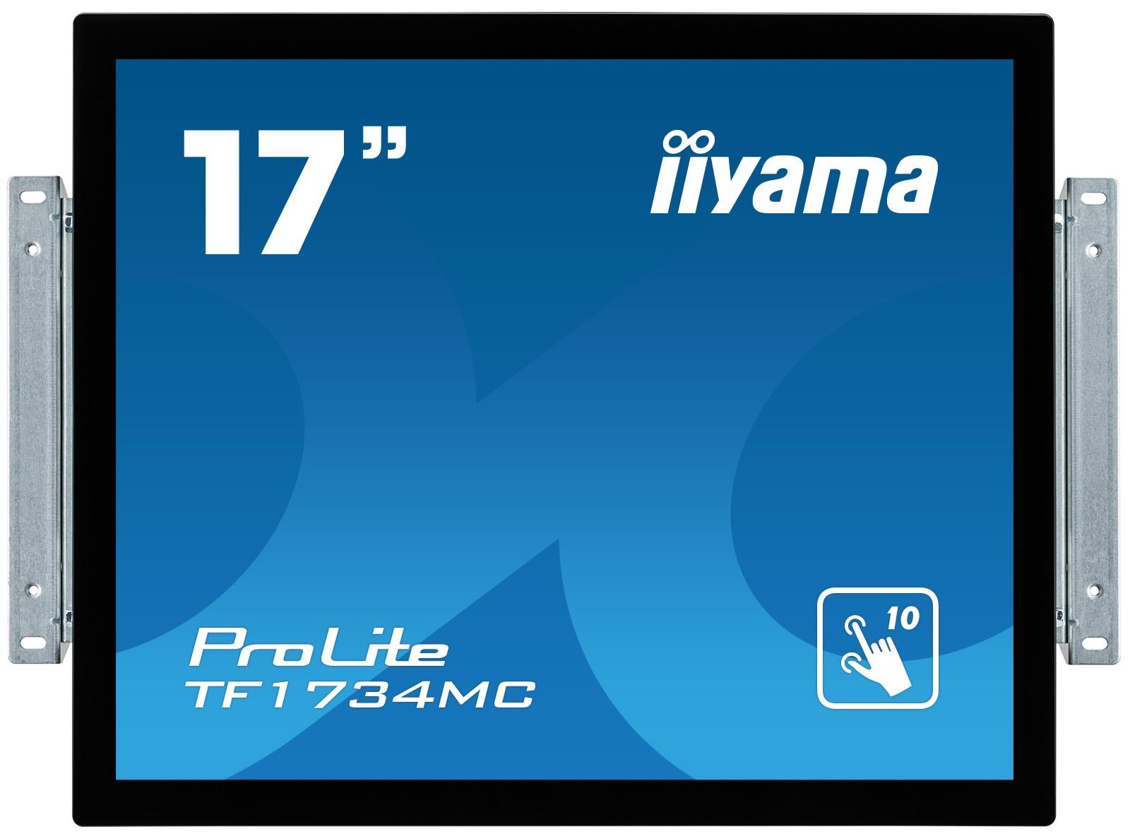 17'' iiyama TF1734MC-B6X: TN, SXGA, capacitive, 10P, 350cd/m2, VGA, DP, HDMI, černý
