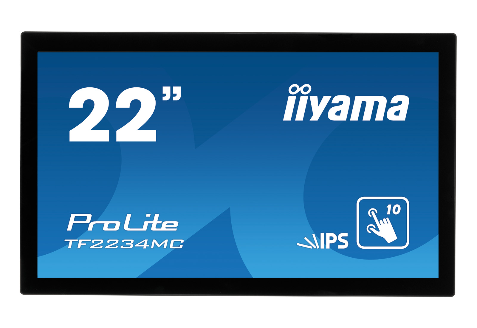 22'' iiyama TF2234MC-B6AGB: IPS, FullHD, capacitive, 10P, 350cd/m2, VGA, DP, HDMI, černý