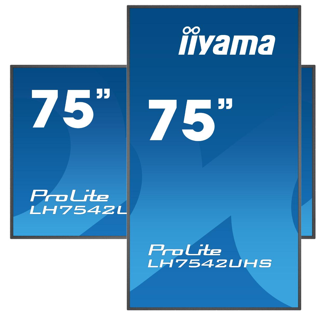 75'' iiyama LH7542UHS-B3: IPS, 4K UHD, 500cd/m2, 18/7, LAN, Android 8.0, černý - LH7542UHS-B3