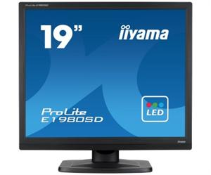 19'' LCD iiyama Prolite E1980SD-B1 - 5ms, 250cd/m2, 1000:1 (12M:1 ACR), 5:4, VGA, DVI, repro