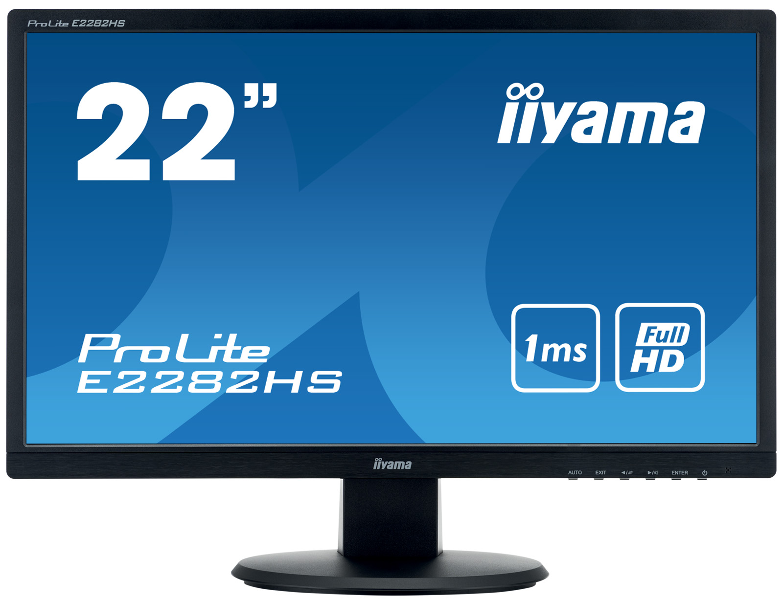 22'' iiyama E2282HS-B1 - TN,FullHD,1ms,250cd/m2, 1000:1,16:9,VGA,DVI,HDMI,repro.