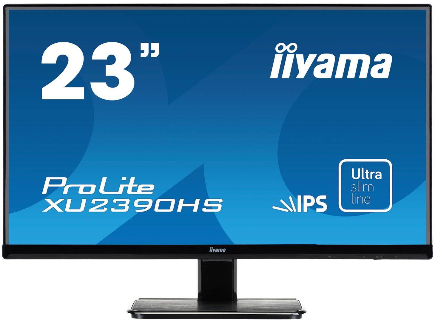23''LCD iiyama XU2390HS - IPS, 5ms, 250cd/m2, FullHD, VGA, HDMI, DVI, repro