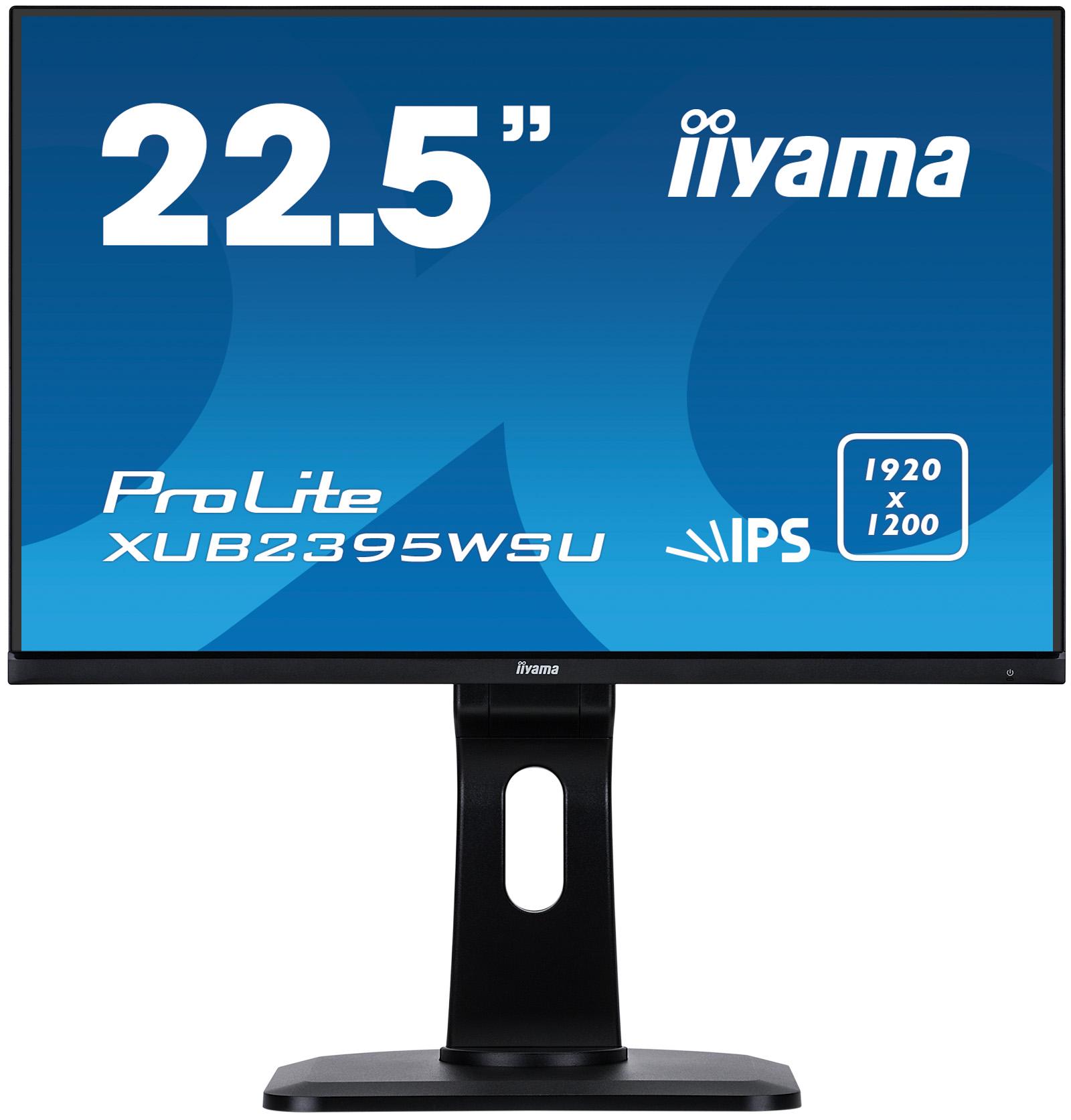 23'' iiyama XUB2395WSU-B1 - IPS,1920x1200,4ms,250cd/m2, 1000:1,16:10,VGA,HDMI,DP,USB,repro.,pivot - XUB2395WSU-B1
