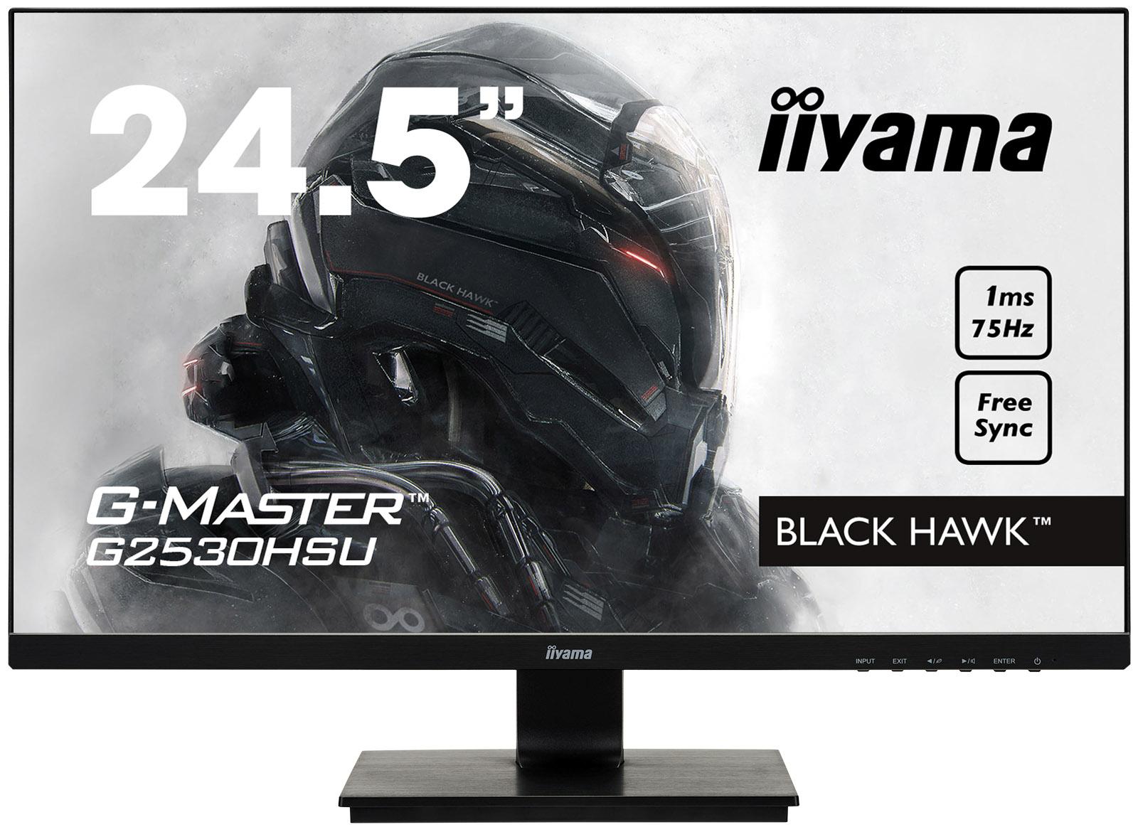 25''LCD iiyama G-Master G2530HSU-B1-FreeSync,1ms,250cd,75Hz,1000:1(12M:1ACR),USB,VGA,DP,HDMI,repro - G2530HSU-B1