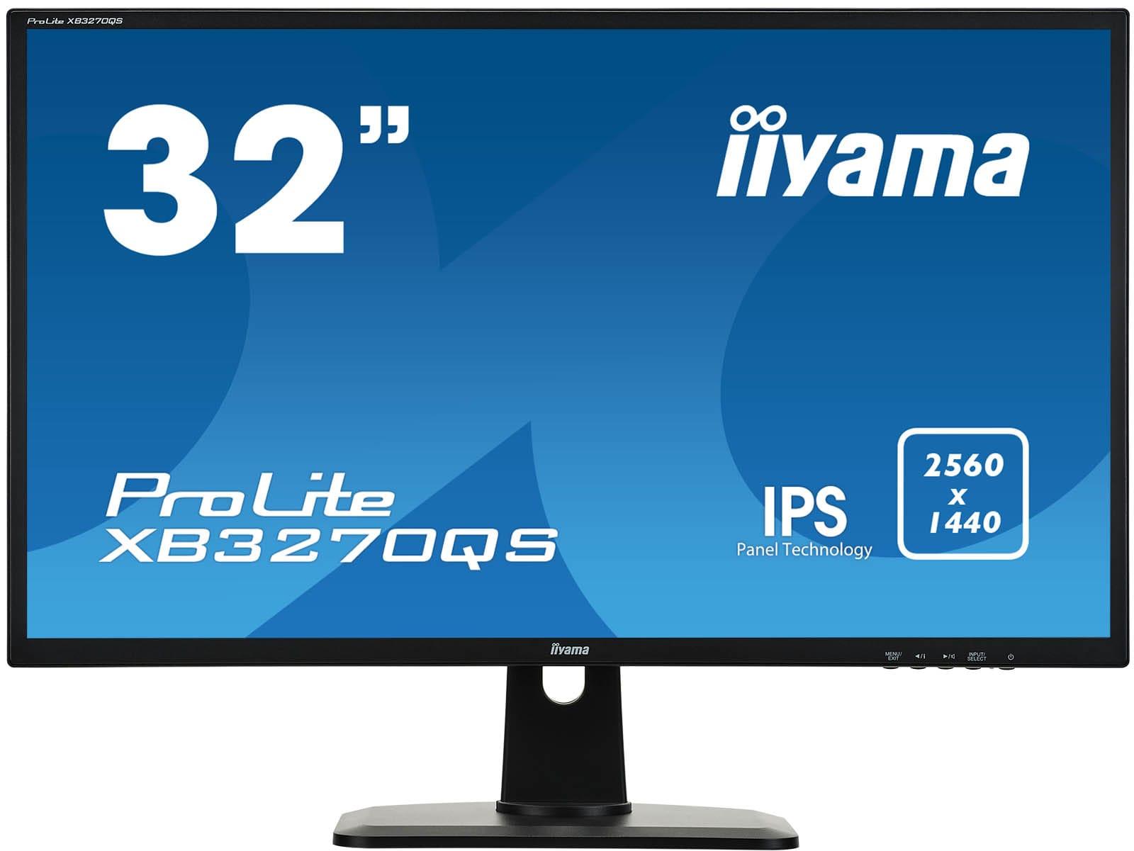 32'' LCD iiyama XB3270QS-B1 - IPS,4ms,300cd/m2,16:9,2560x1440,DVI,HDMI,DP,repro,výškov.nastav.
