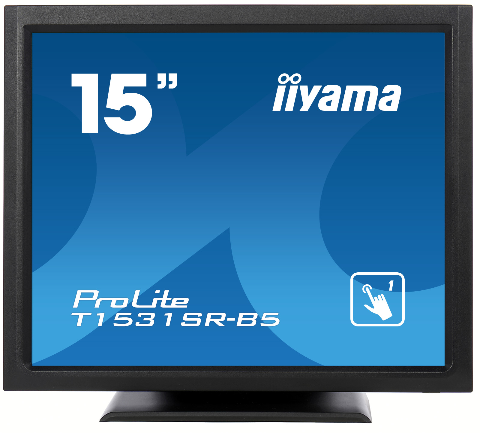 15'' iiyama T1531SR-B5 - TN,1024x768,8ms,370cd/m2, 700:1,4:3,VGA,HDMI,DP,USB,repro,výška.