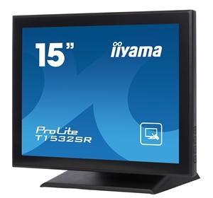 15'' LCD iiyama T1532SR-B1 -5 žilový,DVI,USB,RS-232