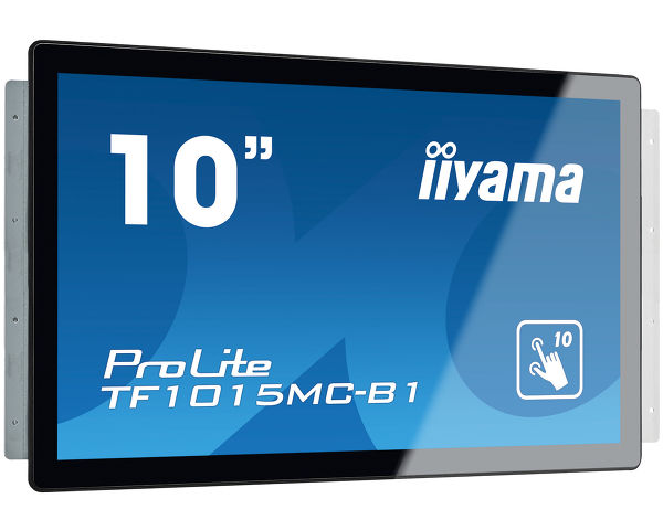 10' iiyama TF1015MC-B1 - VA,1280x800,25ms,450cd/m2, 1300:1,16:10,VGA,HDMI,DP,USB