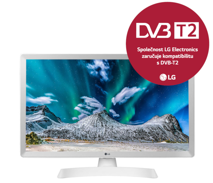 24'' LG LED 24TL510V - HD ready,DVB-T2,HDMI,white
